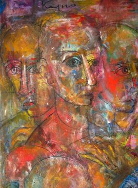La dernière Cène, détail, L. Kijno, peintre (A. Tobé©)