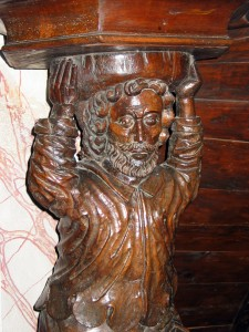 1.L'atlante de la chaire de l'église St-Pierre de Passy, A. Tobé ©