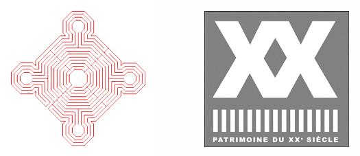 Logos Monument Historique & Patrimoine du XXe siècle