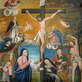 La crucifixion du retable de la chapelle de Joux, A. Tobé ©